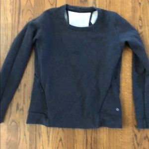 Lululemon charcoal grey sweatshirt open back 8 euc